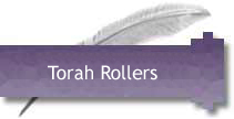 Torah rollers, atzei chaim, from Israel