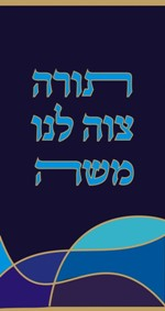 Click for a full Torah cover sample